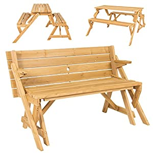 Best Choice Products Patio 2 in 1 Outdoor Interchangeable Picnic Table/Garden Bench Wood