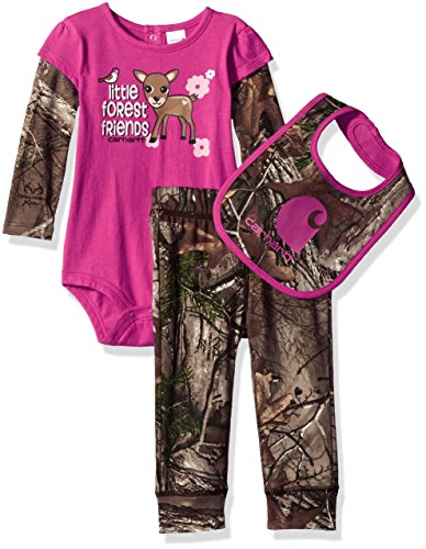 Carhartt Girls' 3 Piece Gift Set, Realtree Xtra Brown, 3 Months (Baby Girl Camo Clothes compare prices)