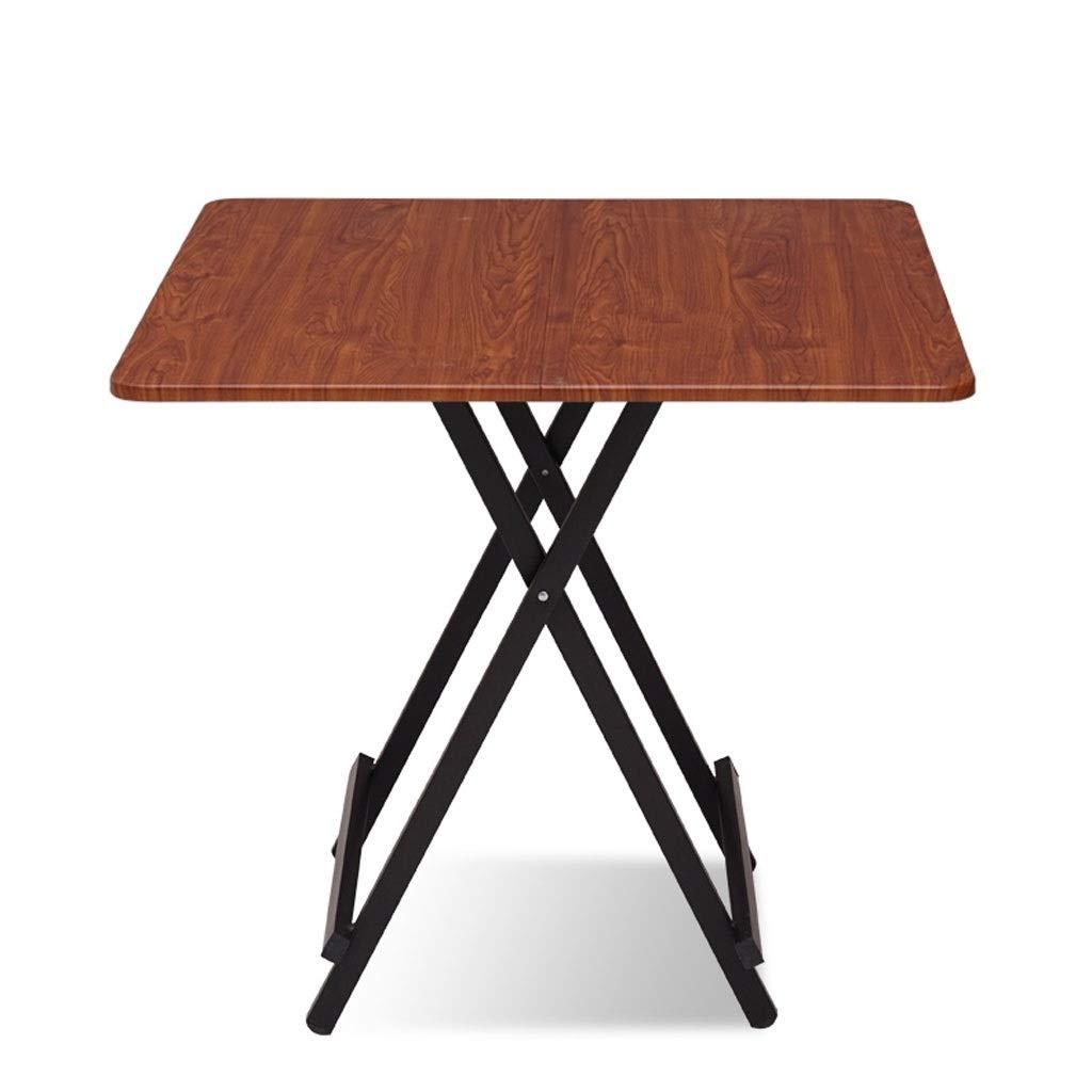 WangYi 折りたたみ式テーブル- 折りたたみテーブルホーム小さなテーブル屋外ポータブル折りたたみテーブル寮シンプルな小さなテーブル (色 : Brown, サイズ さいず : 60x60x55cm) 60x60x55cm Brown B07PLCY7RM