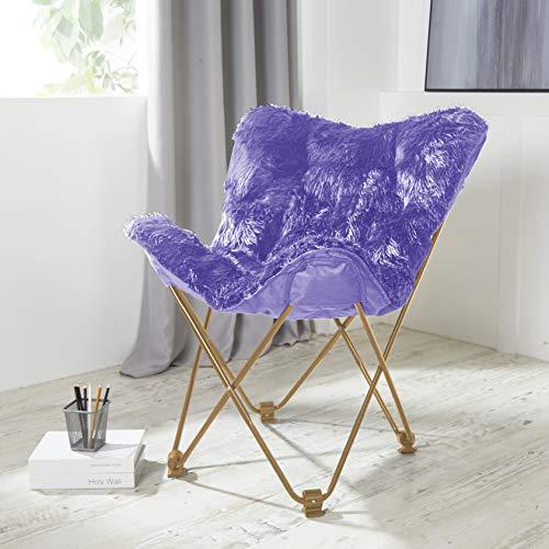 Urban Shop Mongolian Butterfly Chair, Lavender