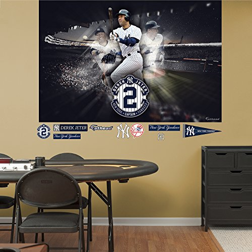 Fathead MLB New York Yankees Derek Jeter: Legacy Mural - Giant Officially Licensed MLB Removable Wall Graphic