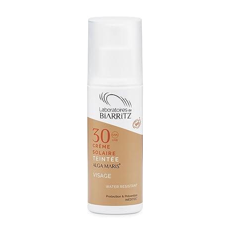 Les Laboratoires de Biarritz Algamaris - Crème solaire visage teintée  claire SPF30 certifiée bio 75b18fa1880