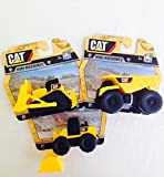 CAT Toy State Caterpillar Construction Set Mini Machines Dump Truck Tractor Bulldozer (Bundle of 3) Great Stocking Stuffers