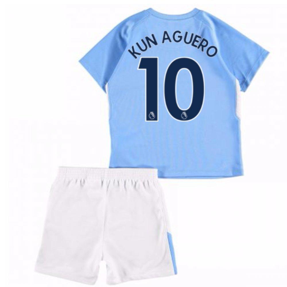 UKSoccershop 2017-18 Man City Home Baby Kit (Sergio Aguero 10)