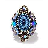 Sweet Romance Vintage Peacock Pinwheel Ring