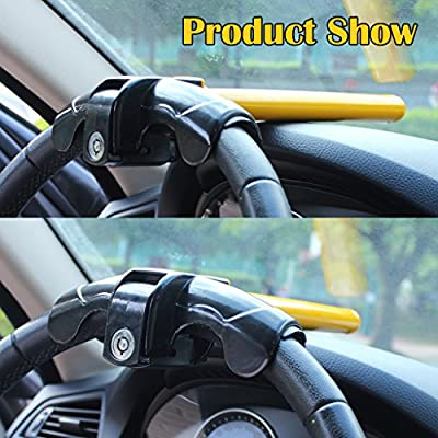 EFORCAR 1 PCS Universal Anti-Theft Car Auto Security Rotary Steering Wheel Lock: Automotive