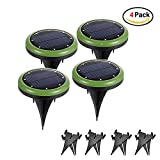 Solar Ground Light Waterproof Garden Pathway Lights Outdoor lamp for Lawn Home Yard Driveway Pack of 2 (4pcs)