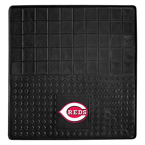 Black MLB Reds Mat for SUV Cars Sports Car Floor Mats Large Car Jeep SUV Trunk Mats Garage Floor Carpets Rugs Universal Waterproof Team Logo Baseball Fan Gift, Heavy Duty Vinyl