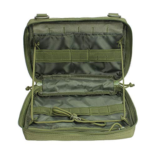 Molle Pouch, Medical EDC EMT Utility Bag Shell Design Attachment Pouches 1000D Nylon Hiking Belt Bags Waterproof ()