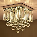 Hsyile KU300114 Modern Simple Ceiling Lamp Square Crystal Lamp Creative Lighting Corridor Lamp Aisle Lights,1 Light
