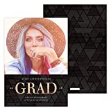 Custom Foil Grad Design - Photo Personalized Graduation Announcement - Foil Accents - Minimum Quantity of 50 with white envelopes - 5 x 7, Made in the USA