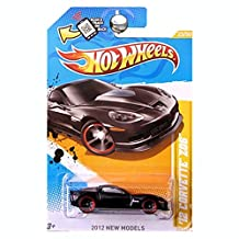 Hot Wheels 12 Corvette Z06 In Black 2012 New Models 1:64 Scale Collectible Die Cast Car #005