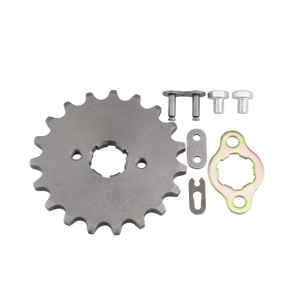 GOOFIT 20mm Sprocket Front for Motorcycle ATV Dirt Bike 420-19T