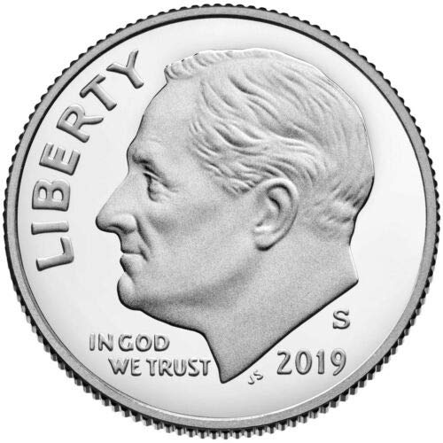 2019 S Roosevelt Silver Proof Dime PF1
