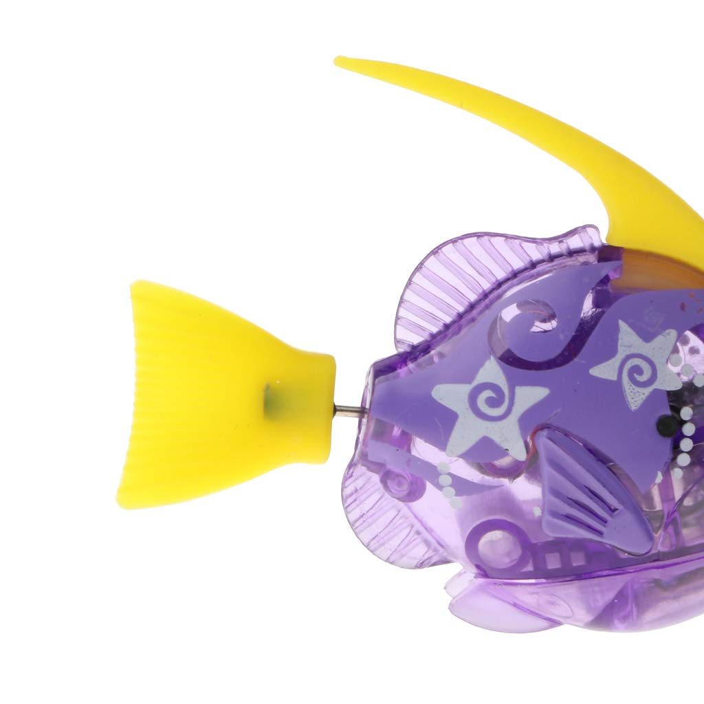 Amazon.com: MagiDeal Swimming Robot Fish Activated in Water Electric Robotic Fish Battery Powered Kids Water Bath Toy Electronic Pet Aquarium Decor Purple: ...