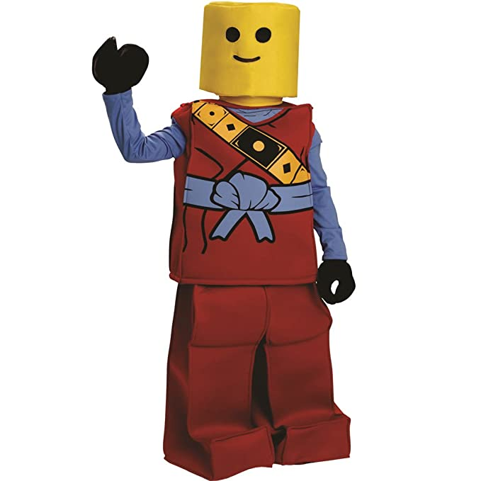Dress Up America Halloween Kids Toy Block Ninja Man Costume Outfit Red