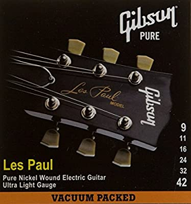 Gibson Gear SEG-LP9 Nickel Plated Electric Guitar Strings, Extra Light