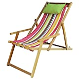 Hangit Foldable Furniture Polyester Fabric Wooden Chair For Garden Living Room