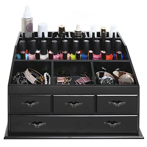 ... Vanity Cosmetic Organizer Chest Box / Countertop Jewelry Tray eBay