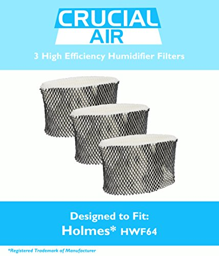 3 Holmes HWF64 Humidifier Filter B Fits HM1761, HM1645, HM1730, HM1745, HM1746, HM1750, HM2220 & HM2200, Fits Sunbeam SCM1745 & SCM1746, Designed & Engineered by Crucial Air