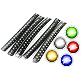 Chanzon (5 Colors x 20 pcs = 100 pcs) 0805 SMD LED Diode Lights Assorted Kit (Mini Chip 2.0mm x 1.2mm for PCB DC 20mA…