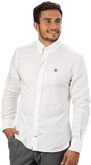 El Ganso - Colección AW19 - Camisa Lisa Pin Point - para Hombre - Manga Larga - Cuello de Doble Botón: Amazon.es: Ropa y accesorios