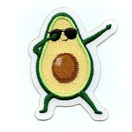 Dabbing Dancing Avocado Embroidered Iron On Patch