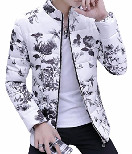 UK Coat Stand Winter Warm Thicken today Floral Down Mens 6 Collar Printed UnqHFA1w