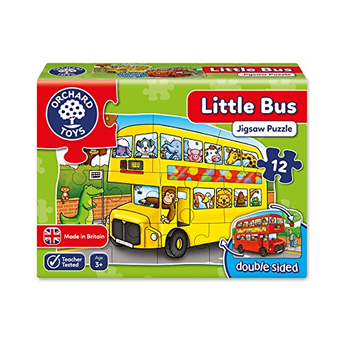 Orchard Toys - Little Bus Double Sided 12 Piece Puzzle (Little Naruto Toys)