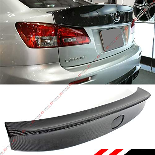 Cuztom Tuning Fits for 2006-2013 Lexus IS250 IS350 ISF W Style Carbon Fiber Duckbill High Kick Rear Trunk Spoiler Wing