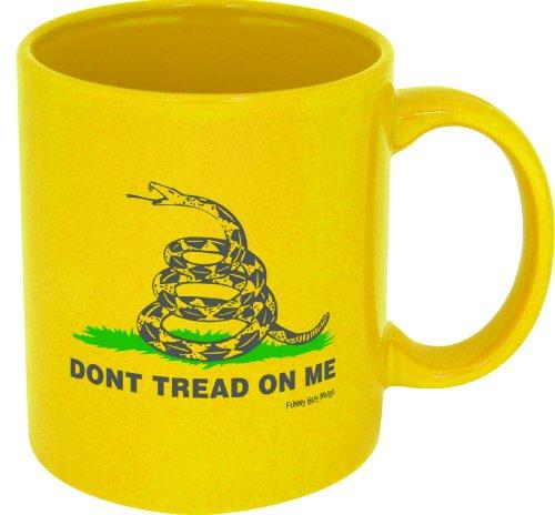 Funny Guy Mugs Don't Tread On Me Ceramic Coffee Mug, Yellow, (George Mug)