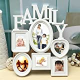 6 Frames White Plastic Family Photo Frame For Picture Wall Hanging ...