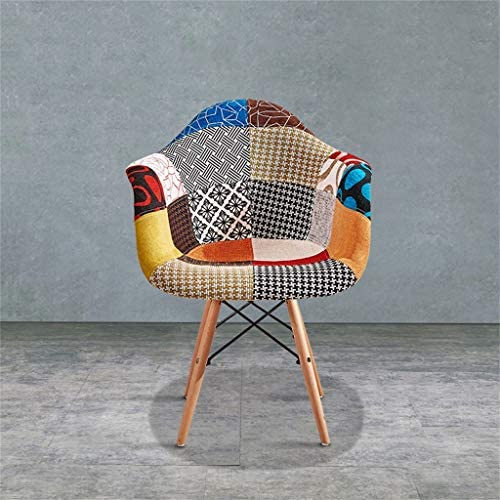 Chaises de Salle à Manger en Tissu/chaises Simples, Chaise de Couture créative, Jambes en Bois Massif, Meubles créatifs de Style Moderne et portants Stables