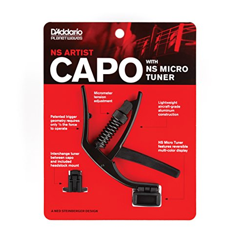Capotraste com Afinador Planet Waves PW-CP-10NSM