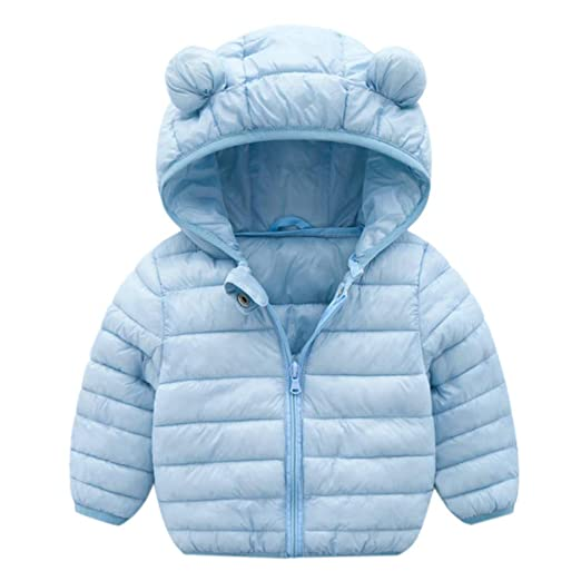 a67299f29 Amazon.com  WARMSHOP Baby Hooded Down Coat for 0-4T