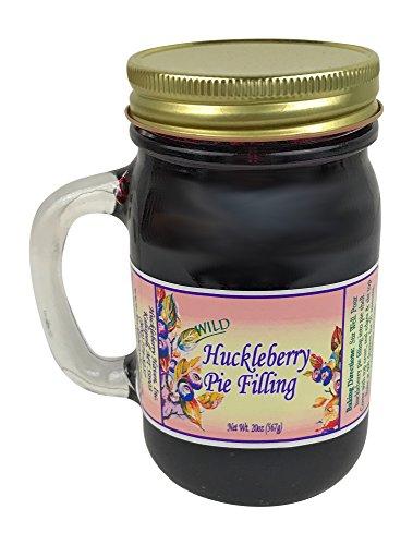 Wild Huckleberry Pie Filling from Huckleberry Haven, 20 oz mug style jar