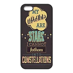 iPhone 5S Protective Case - Quotes from The Fault in Our Stars Hardshell Carrying Case Cover for iPhone 5 / 5S