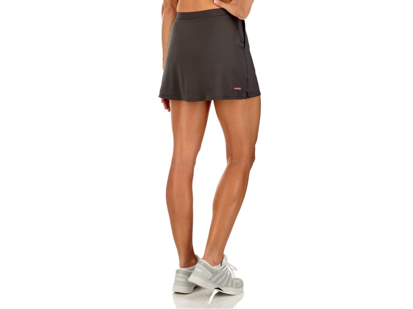 K-Swiss Women's Club Tennis Skirt, Dark Shadow, Medium