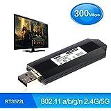 TV Wireless WLAN Adapter USB WLAN Adapter 2,4G/5G 300Mbps 802.11a/b/g/n USB TV Netzwerkkarte Wireless Modem 300MBit/s für Samsung Smart TV anstelle WIS12ABGNX WIS09ABGN