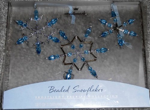 Hallmark Beaded Snowflakes: Frostlight Faeries Collection - Set of 3 Ornaments
