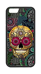 "Iphone6 4.7"" case, Artistic skeleton Case Cover for Iphone6 4.7"",Custom Flowers and skull Cover Case for Iphone6 4.7"" moye-236328 at monye."