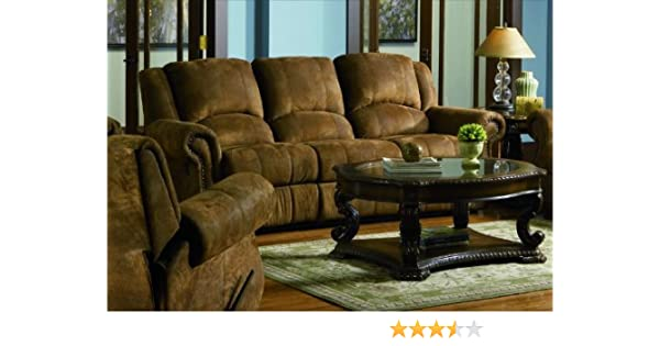 Brown Reclining Sofa Couch Living Family Room Recliner