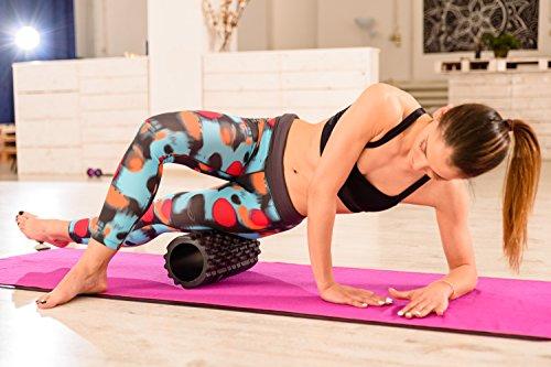 Yoga EVO Foam Roller Bundle 2 Massage Balls and Foot Massager Stick 13'' Textured High Density Roller