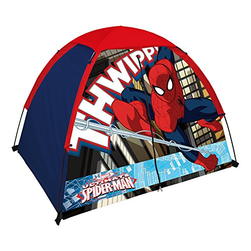 Tent Zip (Spiderman Kid's 2 Pole Dome Tent with Zip T Doors, 4x3-Feet/36-Inch)