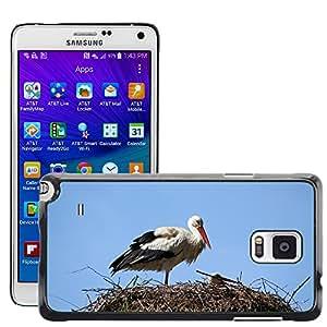 Super Stella Slim PC Hard Case Cover Skin Armor Shell Protection // M00149758 Nature Bird Stork Nest Animal // Samsung Galaxy Note 4 IV