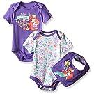 Disney Baby Little Mermaid 2 Pack Bodysuit with Bib, Multi/Purple ( Mermaid ) , 12 Months