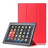 Kshion Magnetic Auto Sleep Leather Cover Case [Anti Slip] Protective for 10.1'' Lenovo Tab3 10 Business (TB3-X70F/N/L),TAB2 X30F,TAB2 A10-70(F),TAB2 A10-30 Tablet+Touch Pen+Protective Film (Red)