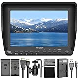 Neewer NW-S7 7 inches 4K HD On-Camera Field Monitor 1920X1200 Resolution for DSLR Camera Camcorder, Micro USB Battery Charger for LP-E6, 2000mAh Replacement Battery for Canon LP-E6