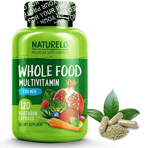 NATURELO Whole Food Multivitamin for Men - #1 Ranked - with Natural Vitamins, Minerals, Organic Extracts - Vegan Vegetarian - Best for Energy, Brain, Heart and Eye Health - 120 (Active Mens Multivitamin)