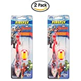 Marvel Avengers Iron Man Children Toothbrush with Travel Cap and suction cup- 2 pack